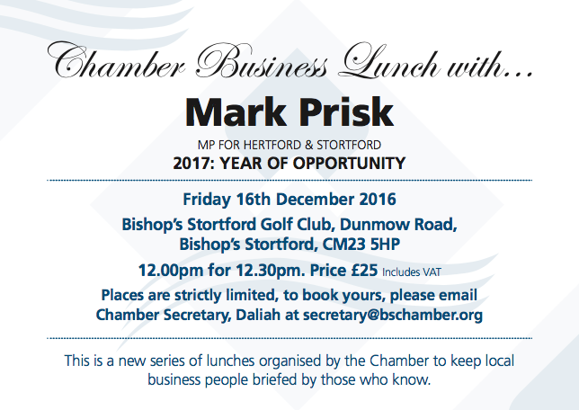 Chamber Business Lunch Invite December